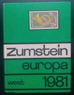WestEuropa Briefmarkenkatalog - Zumstein 1981 - Catalogues