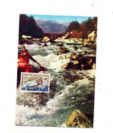Carte Maximum 1969 Bourg Saint Maurice Canoe Kayak - 1960-69