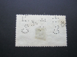 INDIEN     ,  FIRMENLOCHUNG , Perfin , 2 Scans  , Selten - 1911-35 King George V