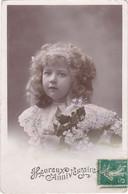 """D3162 FANTAISIE ENFANT - FILLETTE AVEC FLEURS  - HEUREUX ANNIVERSAIRE - VLC SERIE N°3914 - MARQUE """"ETOILE"""" - Verzamelingen & Reeksen"""