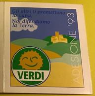 Tessere Partito Verdi, Adesione 1993/94/95 (3 Tessere Insieme) - Collections