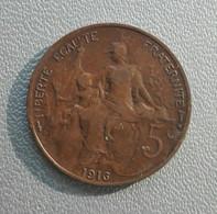 France 5 Centimes 1916 - Francia 5 Centesimi - C. 5 Centesimi