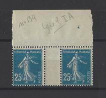 FRANCE.  YT   N° 140  Neuf **  1907 - 1906-38 Semeuse Camée