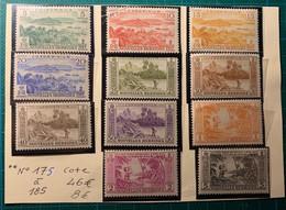 Nouvelles-Hébrides -Légende Française - 1940-1959 -  N°175 à 185**- Cote 46€ - Nuevos