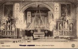 55  DOMBASLE EN ARGONNE  L'INTERIEUR DE L'EGLISE - Other Municipalities