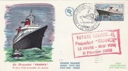 Voyage Inaugural Paquebot France 8 Février 1962 - 1961-....