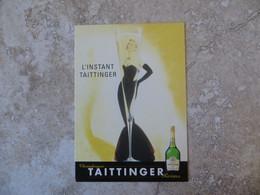 CP Publicité Alcool Champagne TAITTINGER Reims - Flûte à Champagne Go Card - Reclame