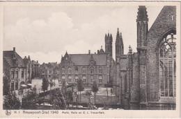 BELGIUM - Nieupoort-Stad 1940 - Markt Halle En O.L. Vrouw-Kerk - Nieuwpoort