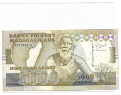 MADAGASCAR Billet 5000 Ariary / 25000 Francs - Madagaskar