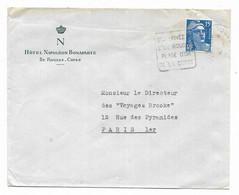 1955 - Flamme Séjournez A L'ile Rousse Plage D'or De La Corse Hotel Napoleon Bonaparte - Annullamenti Meccanici (pubblicitari)