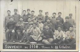 Carte Photo Souvenir De 1914 Nimes Le 19 Octobre - Nîmes