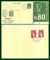 Variété Anneau De Lune Entier Béquet Cp Repiqué FLORANGE 1979 Type A9 Rge Exposition TB Blason - Variedades: 1970-79 Cartas