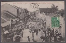 1907. INDOCHINE. Beautiful Post Card TONKIN. Hanoi. Promenade Du Dragon, Rue Des Even... () - JF412681 - Storia Postale