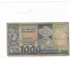 MADAGASCAR Billet 1000 Ariary - Madagaskar