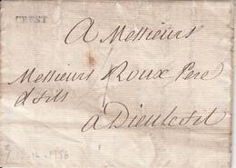 MARQUE POSTALE   LAC CREST POUR DIEULEFIT  DU 17.12.1786 - 1701-1800: Precursores XVIII