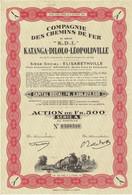 """Ancienne Action Congolaise - Compagnie Des Chemins De Fer Katanga-Dilolo-Léopoldville - """"K.D.L."""" N° 0560540 - Afrika"""