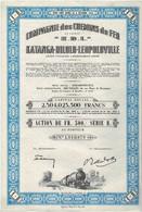 """Ancienne Action Congolaise - Compagnie Des Chemins De Fer Katanga-Dilolo-Léopoldville - """"K.D.L. B"""" N° 1010878 - Afrika"""