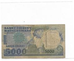 MADAGASCAR Billet 5000 Ariary - Madagaskar