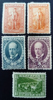 Bulgarie Bulgaria 1922 Bourchier Yvert 164 165 166 169 * MH 168 O Used - Unused Stamps