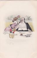 M.M. VIENNE N° 215 - ART NOUVEAU-  Couple - Cigarette -champagne -prostitution- -    (lot Pat 140) - Vienne