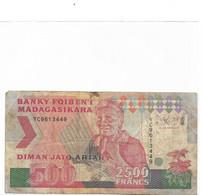 MADAGASCAR Billet  500 Ariary / 2500 Francs - Madagaskar