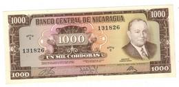 Nicaragua 1000 Cordobas, 1972. Series C. P-128a. UNC. - Nicaragua