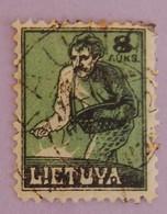LITUANIE YT 116 OBLITERE ANNÉES 1921/1922 - Lituania