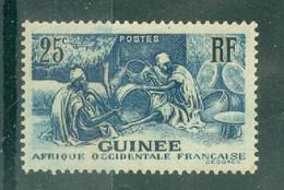 GUINEE - N° 132** MNH SCAN DU VERSO - Les Laobis, Artisans Du Bois. - Nuovi