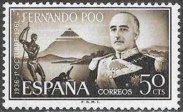 Fernando Poo - Xxv Aniv. Regimen Franquista - Año1961 - Catalogo Yvert Nº 0192 - Usado - - Fernando Poo
