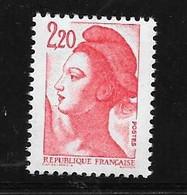 France:variété N°2376g Timbre 2,20f Rouge Type II Sans Phosphore Total Cote 50,00€ Chez Maury Et 45,00€ Chez Y & T - Varieteiten: 1980-89 Postfris