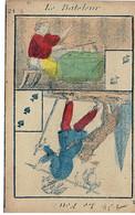 CARTE à JOUER Circa 1890  Le Bateleur Le Feu   Cups And Ball  Magie Prestidigitation - Non Classificati