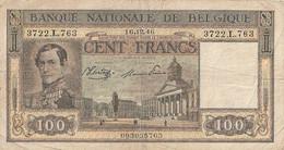 100 F BELGIQUE 16-16-1946 - 100 Francs