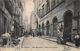 CPA TOULON - Rue Bonnefoy - Palais De Justice - Toulon