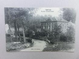 Tavier, Anthisnes, Ecole Communale, édition J-B Delisse, 1914 - Anthisnes