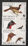 Nicaragua - 1994 - N°Yv. 1911 à 1913 - Chachalaca / WWF - Neuf Luxe ** / MNH / Postfrisch - Non Classificati
