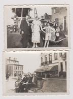 Lot De 2 Petites Photos 5,5 X 8 Cm Chacune OSTENDE 1936 - Places