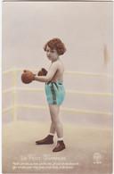 D3175 FANTAISIE ENFANT - ENFANT SUR LE RING DE BOXE AVEC GANTS / SHORT - LE PETIT CHAMPION - SERIE NOYER N°3428 - Collections, Lots & Séries
