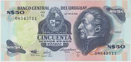 URUGUAY , 50 NUEVOS PESOS , P-61a , UNC - Uruguay