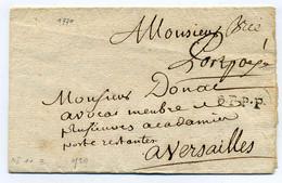BRIE COMTE ROBERT + PORT PAYE  Manuscrit  Lenain N°1+3 / Dept 73 Seine Et Marne / 1770 /  Côte 800€ - 1701-1800: Precursores XVIII
