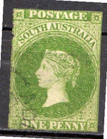 AUSTRALIE DU SUD - (Colonie Britannique) - 1855 - N° 1 - 1 P. Vert Foncé - (Effigie De Victoria) - Used Stamps