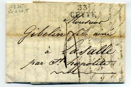 33 CETTE 24x10.5 / Dept De L'Herault / 1825 - 1801-1848: Precursores XIX