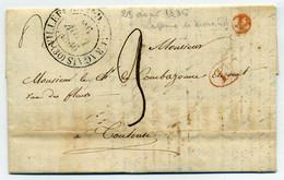 VILLEFRANCHE DE LAURAGUAIS + Boite Rurale Rouge N De Lapresse De MONESTROL / Dept 30 Haute Garonne / 1836 - 1801-1848: Precursores XIX