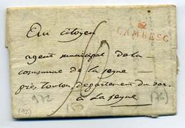 12 LAMBESC / Ecrite De PELISSANE / 19 MESSIDOR AN 4 /Dept 12 Bouches Du Rhône - 1701-1800: Precursores XVIII