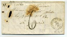 Cursive 56 Montsauche + T15 Chateau Chinon / Dept De La Nièvre / 1846 - 1801-1848: Precursores XIX