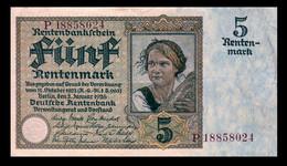 # # # Banknote Deutsches Reich 5 Rentenmark 1923 # # # - 5 Rentenmark