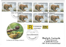 Luxembourg 2002 Renard ¦ Fox  ¦ Fuchs - Briefe U. Dokumente