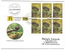 Luxembourg 2002 Herisson ¦ Hedgehog  ¦ Igel - Briefe U. Dokumente