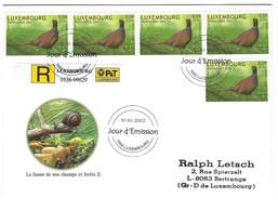 Luxembourg 2002 Faisan ¦ Pheasant  ¦ Fasan - Briefe U. Dokumente