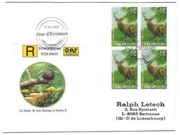 Luxembourg 2002 Cerf ¦ Deer  ¦ Hirsch - Briefe U. Dokumente