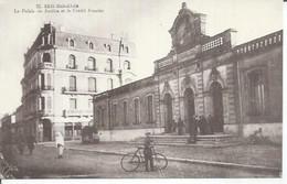 21 - SIDI BEL ABBES - LE PALAIS DE JUSTICE ET LE CREDIT FONCIER (  Animées  ) ALGERIE - Sidi-bel-Abbès